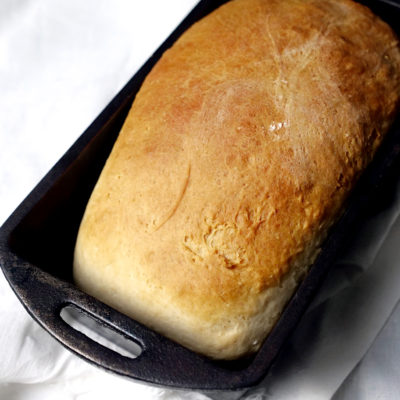 Homemade White Bread in Cast Iron