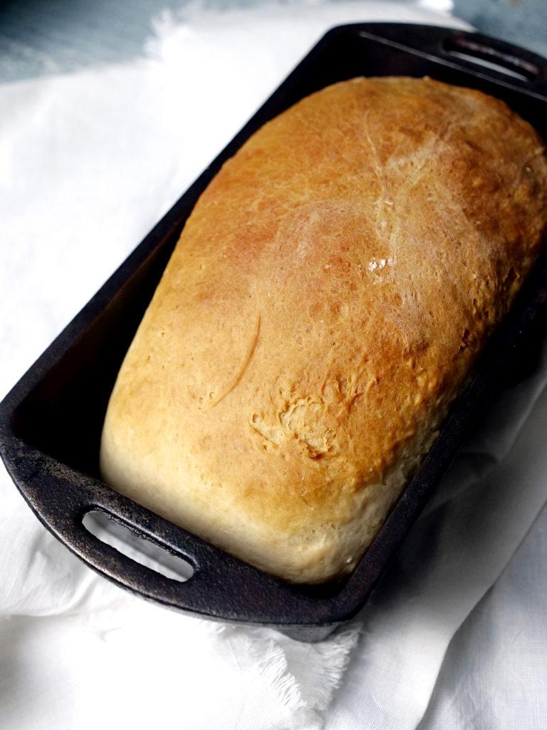 Homemade White Bread in Cast Iron