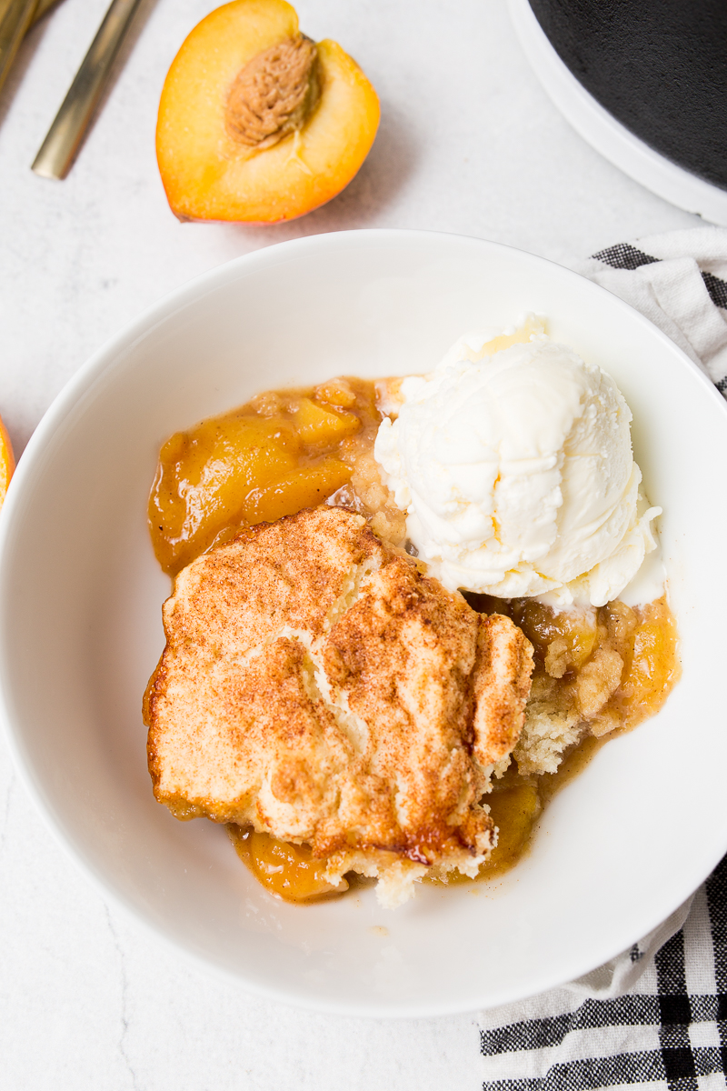Dutch Oven Fresh Peach Cobbler