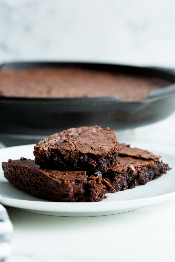 The Best Fudgy Cast Iron Skillet Brownies