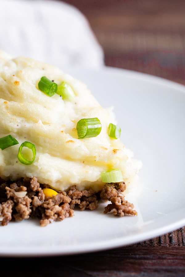 Dutch Oven Shepherd's Pie with beef