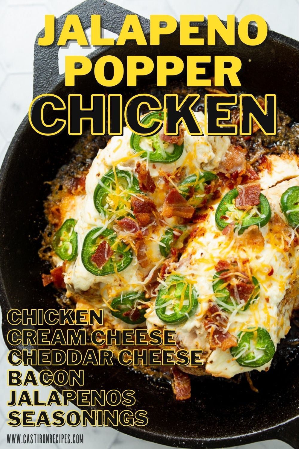 Pin image for jalapeno popper chicken