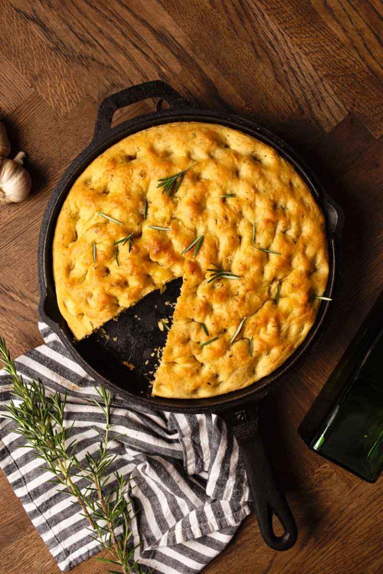 Roasted Garlic Italian Herb Focaccia Bread